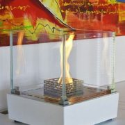 Bioethanol fireplace / contemporary / open hearth / free-standing